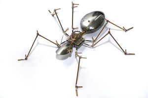 Steampunk metal ant sculpture by hardwidge