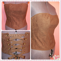 Suede Cloth Corset by HimeGabi