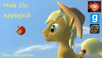 Gmod/SFM Ponies [DL]: Applejack Male by Benno950