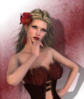 Feathers corset by Ikke46