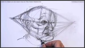 Draw An Old Man's Face In Two Point Perspective 21 by drawingcourse
