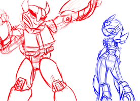 TF Prime red and blue doodle 1 by zenaku9000