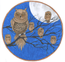 Owls in the night by ZakariasEatWorld