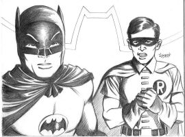 Batman and Robin Sketch 2008 by MichaelWKellarINKS