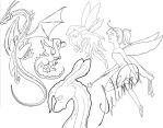 Lineart Sketch Dump by Miyasia