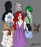Merry Gentry and Her Court by ellestril