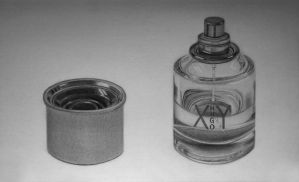 Cologne Still Life Drawing by Rollingboxes