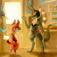 Meeting Msrah by SpaceSmilodon