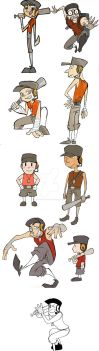 A lot of scout's in different styles by spacerocketbunny