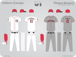 Ottawa Senators Baseball by JimmyNutini