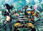 X Men Cyberforce Cross Over by PatLeeArt