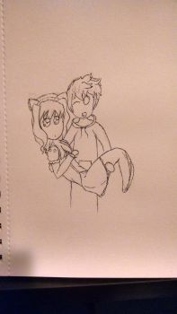 Caught a cat by Teh-Zombish