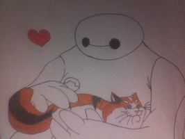 Baymax and Mochi by Kailie2122