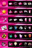 Disney Pink Dock Icons by Polina110986