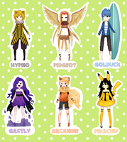 Pokemon Gijinka Adopt AUCTION - First Generation by Mylla-Peppers23