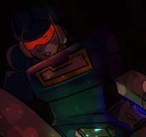 rq: soundwave and oc [preview] by NecromancyInc