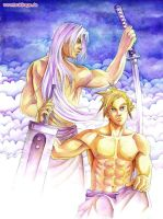 Cloud and Sephiroth by Ryumaro