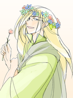 Thranduil of flowers by h-muroto