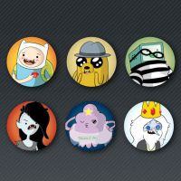Adventure Time Button Set by Sareidia