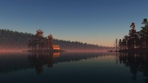 Lake at Dawn WiP by GiulioDesign94