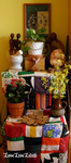 Spring altar with colorful cloth 2. by LoveLiveLilith