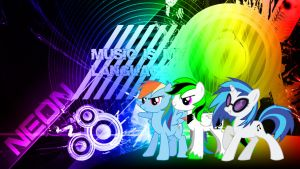 MLP Music Wallpaper (Neon) by NeonThePegasus