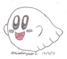 Ghost Kirby Drawing by MarioSimpson1