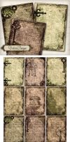 Printable Steampunk ATC images by VectoriaDesigns