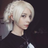 Lunafreya wig test - Final Fantasy XV by Bluegarnetmakeup