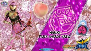 Kamen Rider Marika Peach Energy Arms by blakehunter