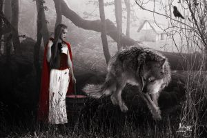 Riding Hood and the Wolf by Julianez