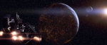 Ork ship attacking Coruscant by snip105