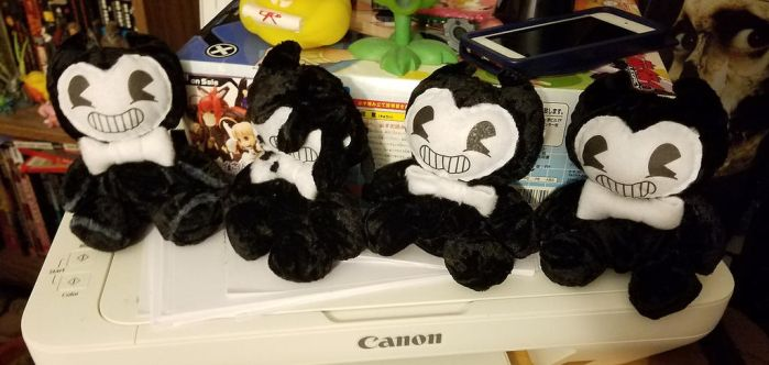 Bendy and the Ink Machine plushies by Melle-d