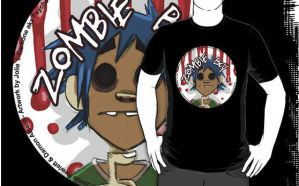 2D Zombie Boy t-shirt by Psychoon