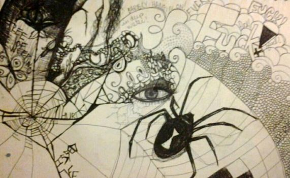 pen and ink work in progress 1 by MissAmber2909
