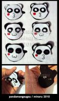 Panda Pins :3 by pandamangaugau