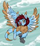 Happy flying Griffin by Crysalia777