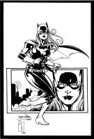 Batgirl Inks by MichaelWKellarINKS
