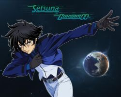 Setsuna in Gundam 00 by wifsimster