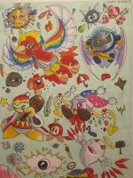 Kirby Bosses by MissDrawsAlot