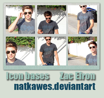 Icon bases - Zac Efron by Natkawes