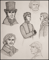 LM 1978: Javert and Valjean by Diamontaetha