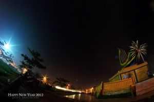 Fireworks In Fisheye 2 by perigunawan