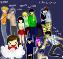 All my OCs by JulieFF