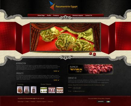 Passmentrie  homepage by atcreation