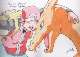 Red and Charizard by Keijisuke