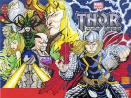 Thor sketch cover commission by mdavidct