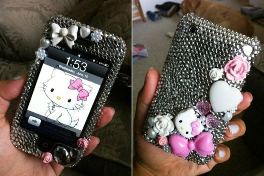 Hello Kitty Decoden Case by dimeycakes