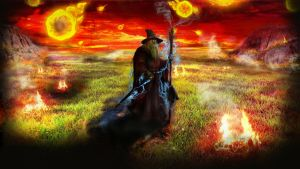 FIre and Thunder Gandalf by cryptic-photos
