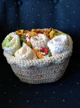 Basket of wash cloths by rockie7777